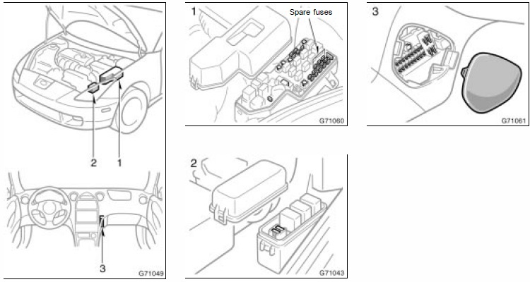fuse blocks engine room and center junction diagrams celica hobby fuse blocks engine room and center junction