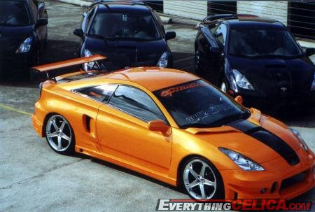 BuddyClub Body Kit Orange RePaint, Hood Spoilers, Window Graphics, Side Air Vents owner: Celicapexi